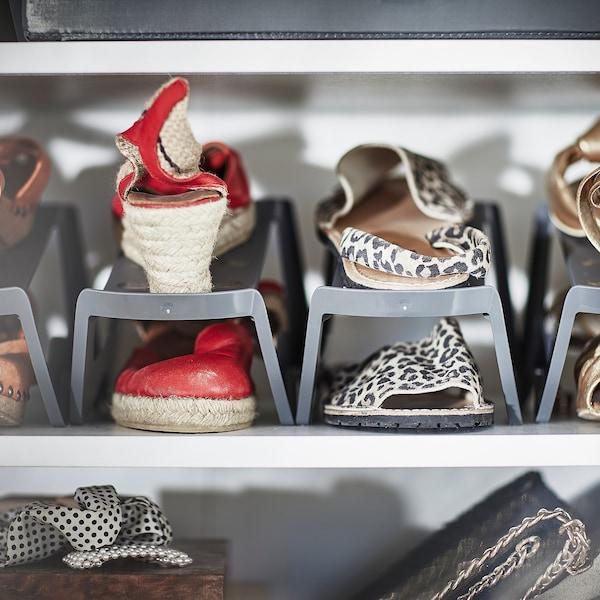 MURVEL Shoe organiser, grey, 14x14x24 cm