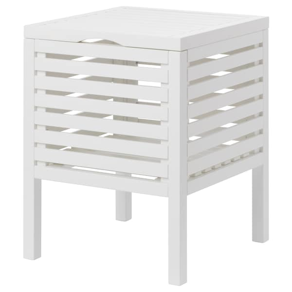 MUSKAN Storage stool, white, 50 cm