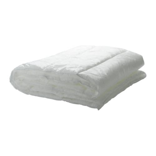MYSA GRÄS Quilt, 4.5 TOG IKEA A thin, lightweight synthetic quilt for you who often feel warm and prefer a cool quilt.