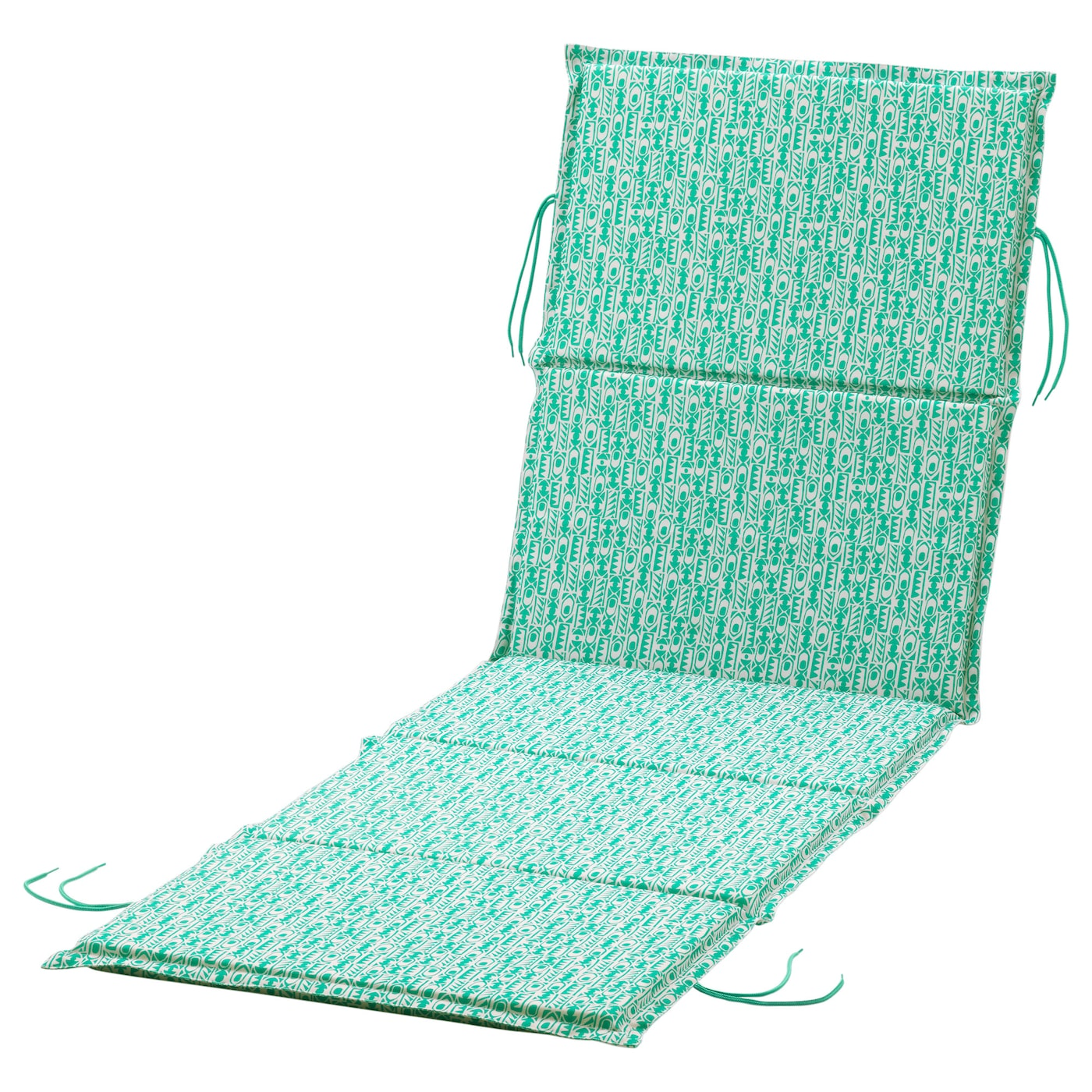 IKEA NÄSTÖN sun lounger pad Ties keep the sun lounger pad firmly in place.