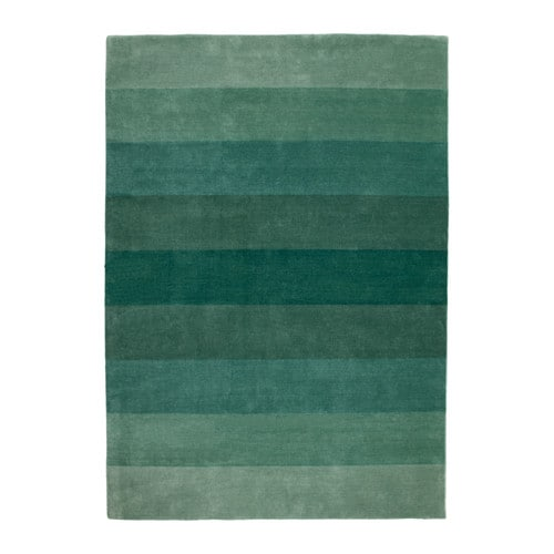 n debo rug low pile handmade green 170x240 cm ikea. Black Bedroom Furniture Sets. Home Design Ideas