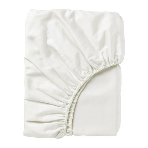 Nattjasmin Fitted Sheet White Double Ikea