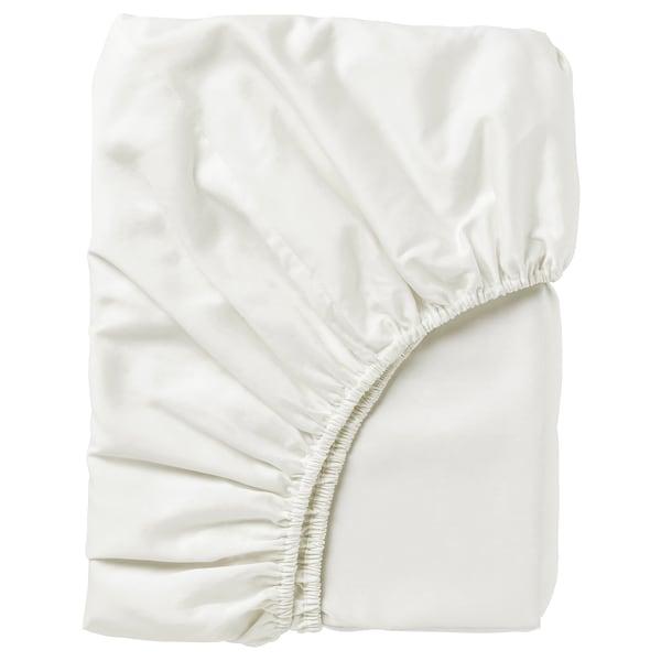 NATTJASMIN Fitted sheet, white, King