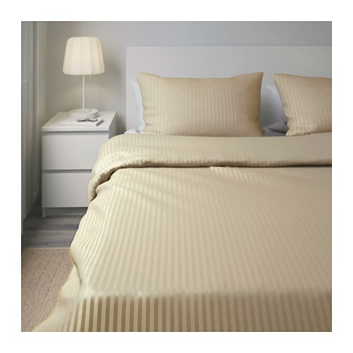 NATTJASMIN Quilt cover and 2 pillowcases Beige 240x220/50x80 cm - IKEA : beige quilt cover - Adamdwight.com