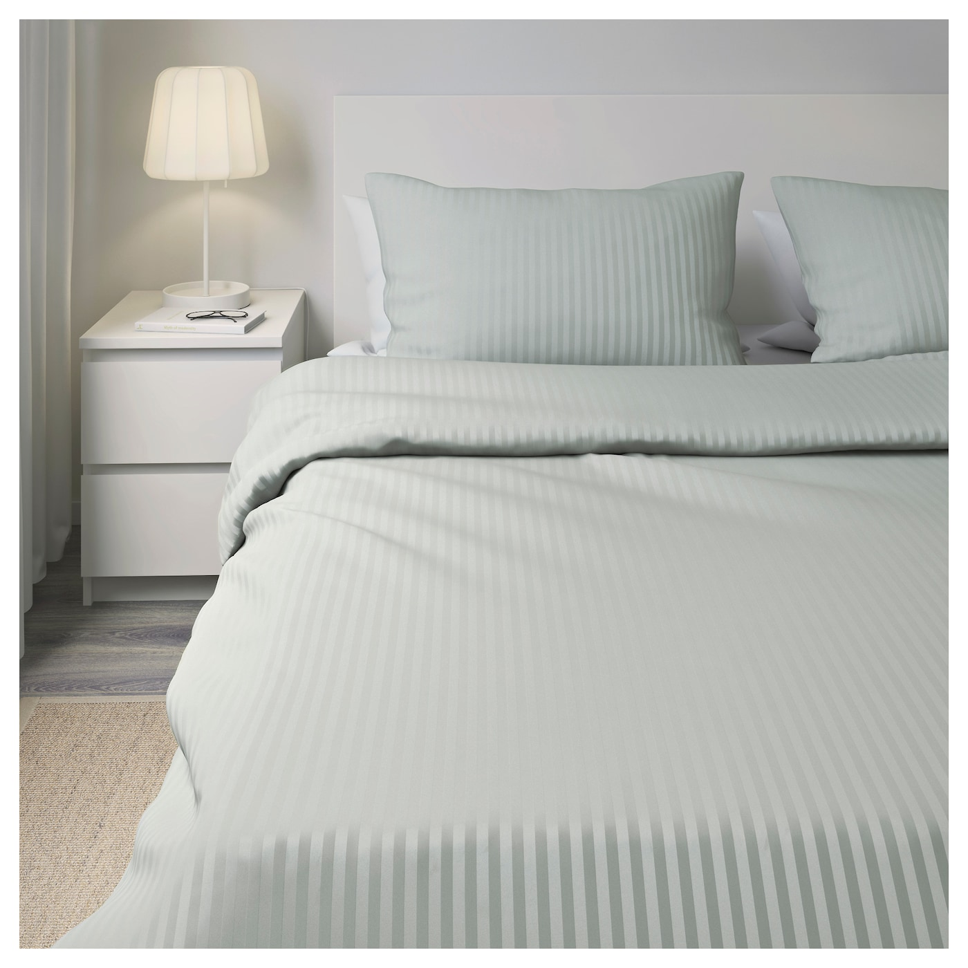 Ikea Nattjasmin Quilt Cover And 2 Pillowcases The Ons Keep In Place