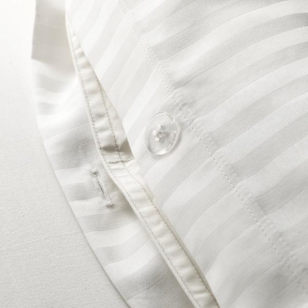 NATTJASMIN Quilt cover and 2 pillowcases, white, 200x200/50x80 cm