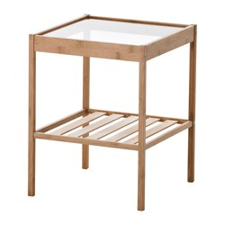 Ikea Nesna Bedside Table Bamboo Is A Hardwearing Natural Material