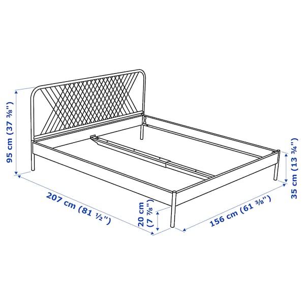 NESTTUN Bed frame, white/Luröy, Standard King