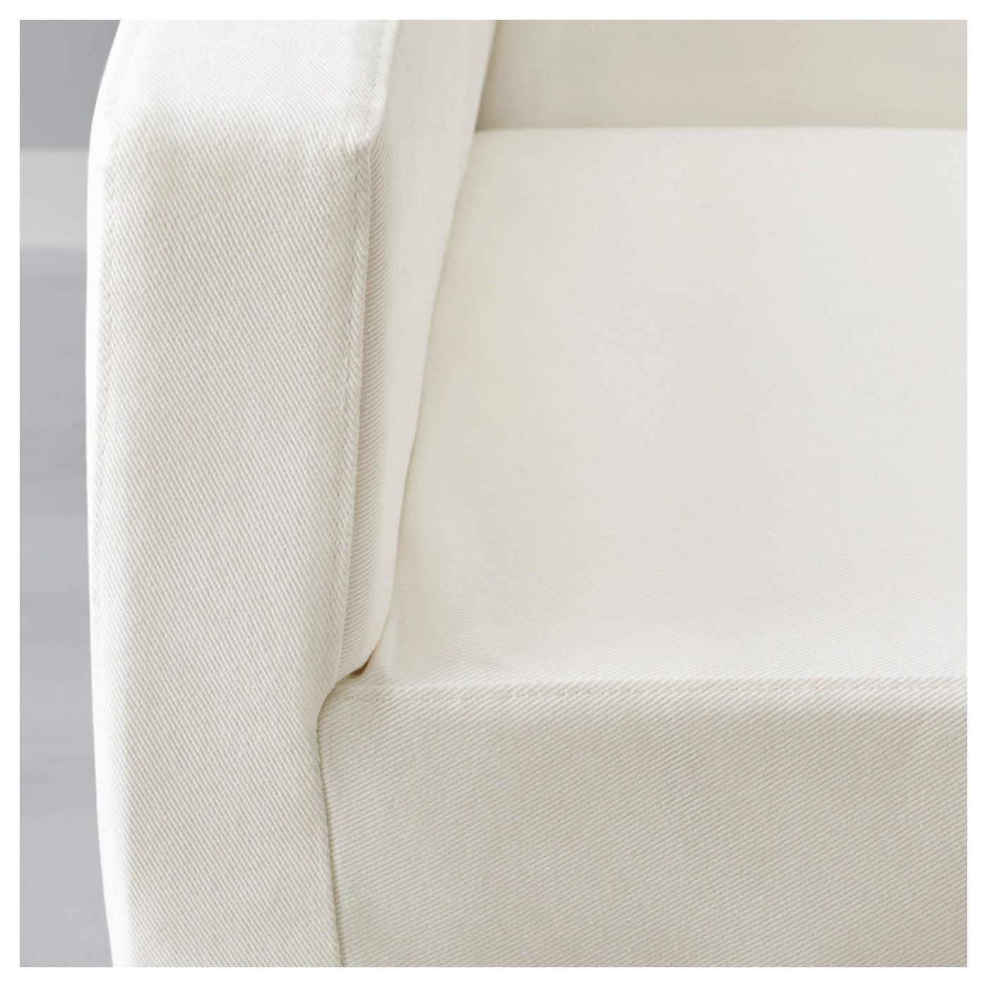 NILS Cover for chair with armrests Blekinge white IKEA