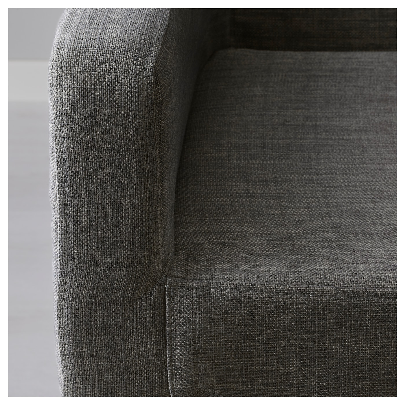 NILS Cover for chair with armrests Skiftebo dark grey IKEA