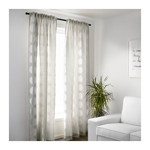 Ninni rund curtains 1 pair light beige 145x300 cm ikea - Ikea salon salle a manger ...