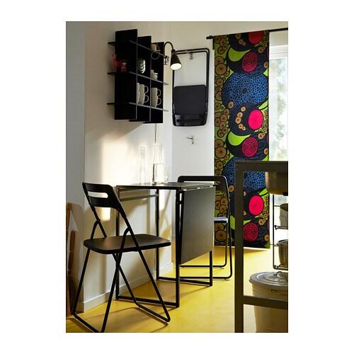 Nisse folding chair black ikea - Chaise pliante bois ikea ...