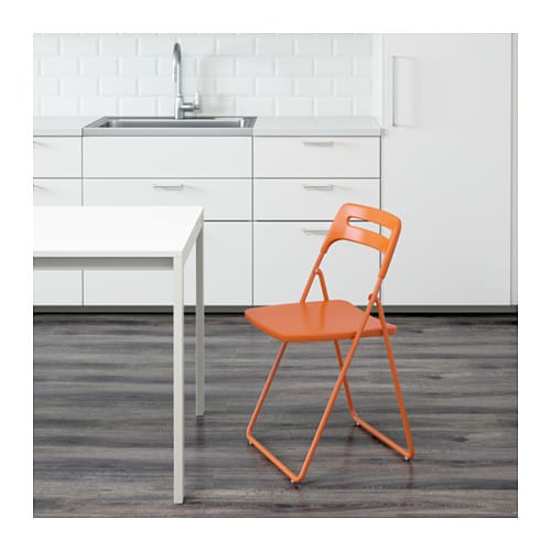 IKEA NISSE folding chair You can fold the chair, so it takes less space when you're not using it.