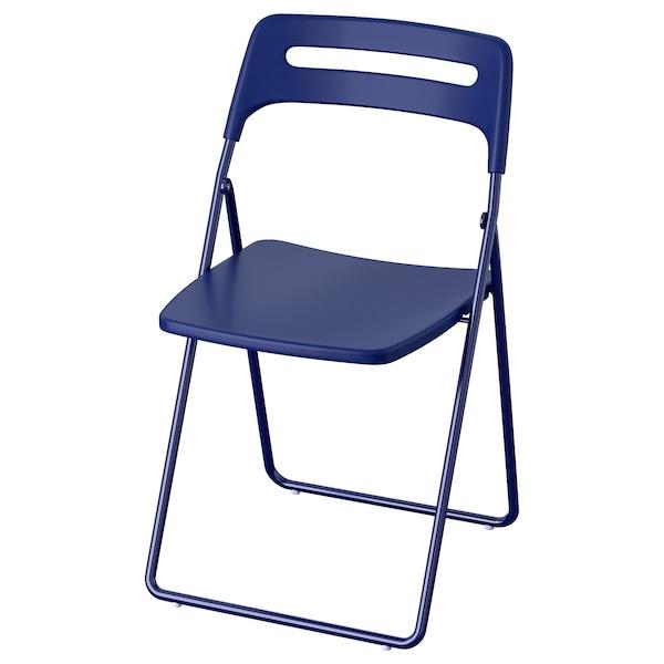 Nisse Folding Chair Dark Blue Lilac Ikea