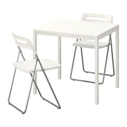 Ikea Nisse Melltorp Table And 2 Folding Chairs
