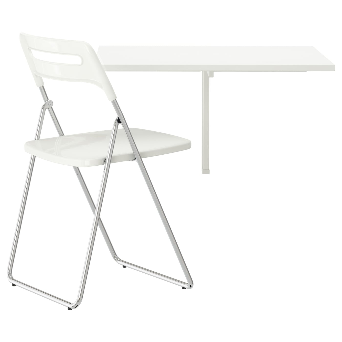 Ikea Nisse Norberg Table And 1 Chair Becomes A Practical Shelf For Small Things When