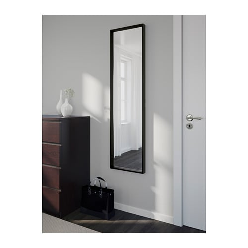 nissedal mirror black 40x150 cm ikea. Black Bedroom Furniture Sets. Home Design Ideas