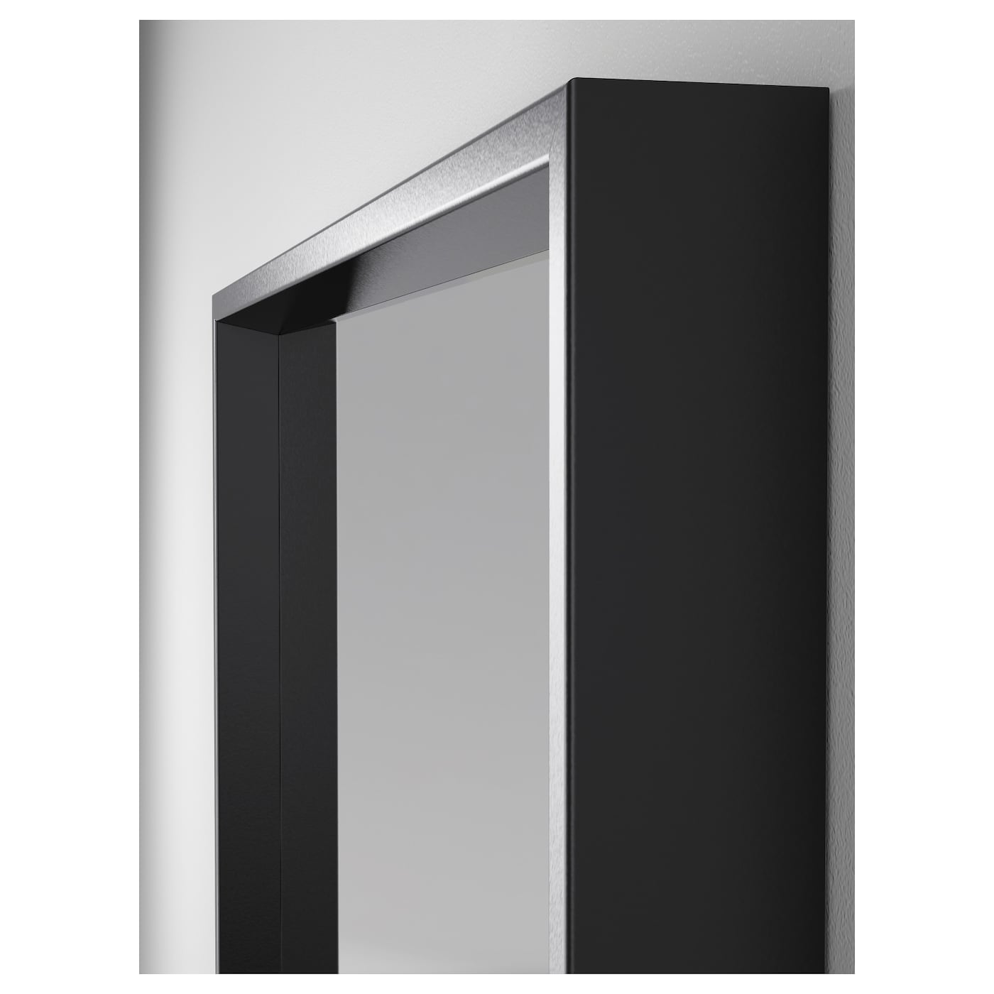 Nissedal mirror black 65x150 cm ikea for Mirror black