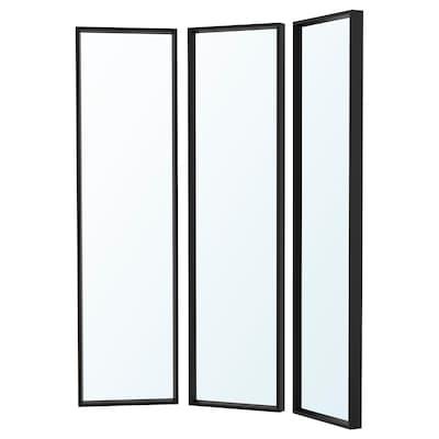 NISSEDAL Mirror combination, black, 130x150 cm