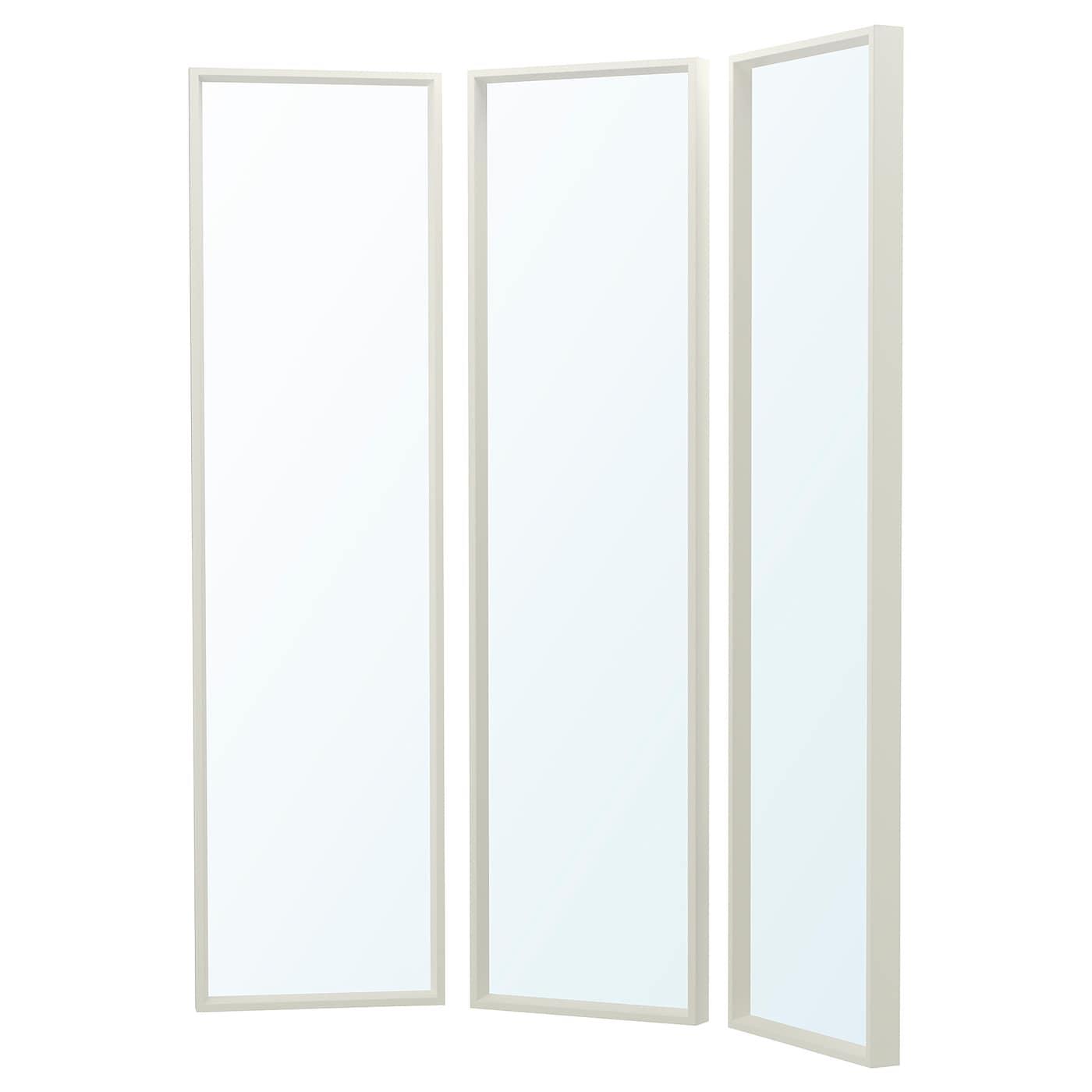 Nissedal mirror combination white 130x150 cm ikea for Miroir nissedal