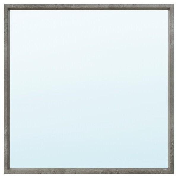 NISSEDAL Mirror, concrete effect, 65x65 cm