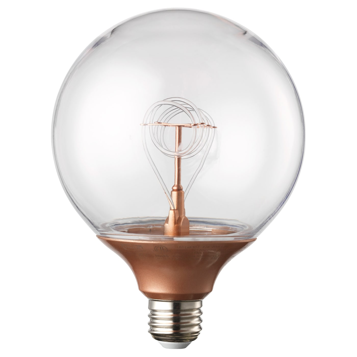 nittio led bulb e27 20 lumen globe copper colour 120 mm ikea. Black Bedroom Furniture Sets. Home Design Ideas