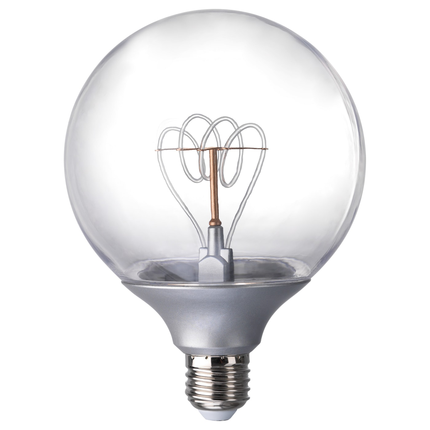 Nittio Led Bulb E27 20 Lumen Globe Silver Colour 120 Mm Ikea