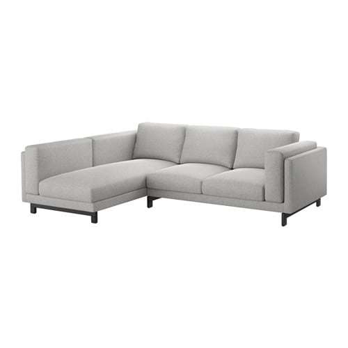 Nockeby 3 seat sofa with chaise longue left tallmyra for Sofas chaise longue de piel