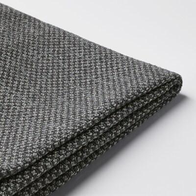 NOCKEBY Cover for 3-seat sofa, Lejde dark grey/with chaise longue, left