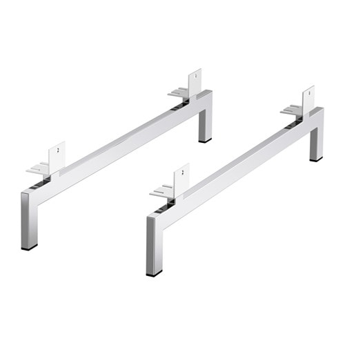 NOCKEBY Legs for 2-seat sofa Chrome-plated - IKEA