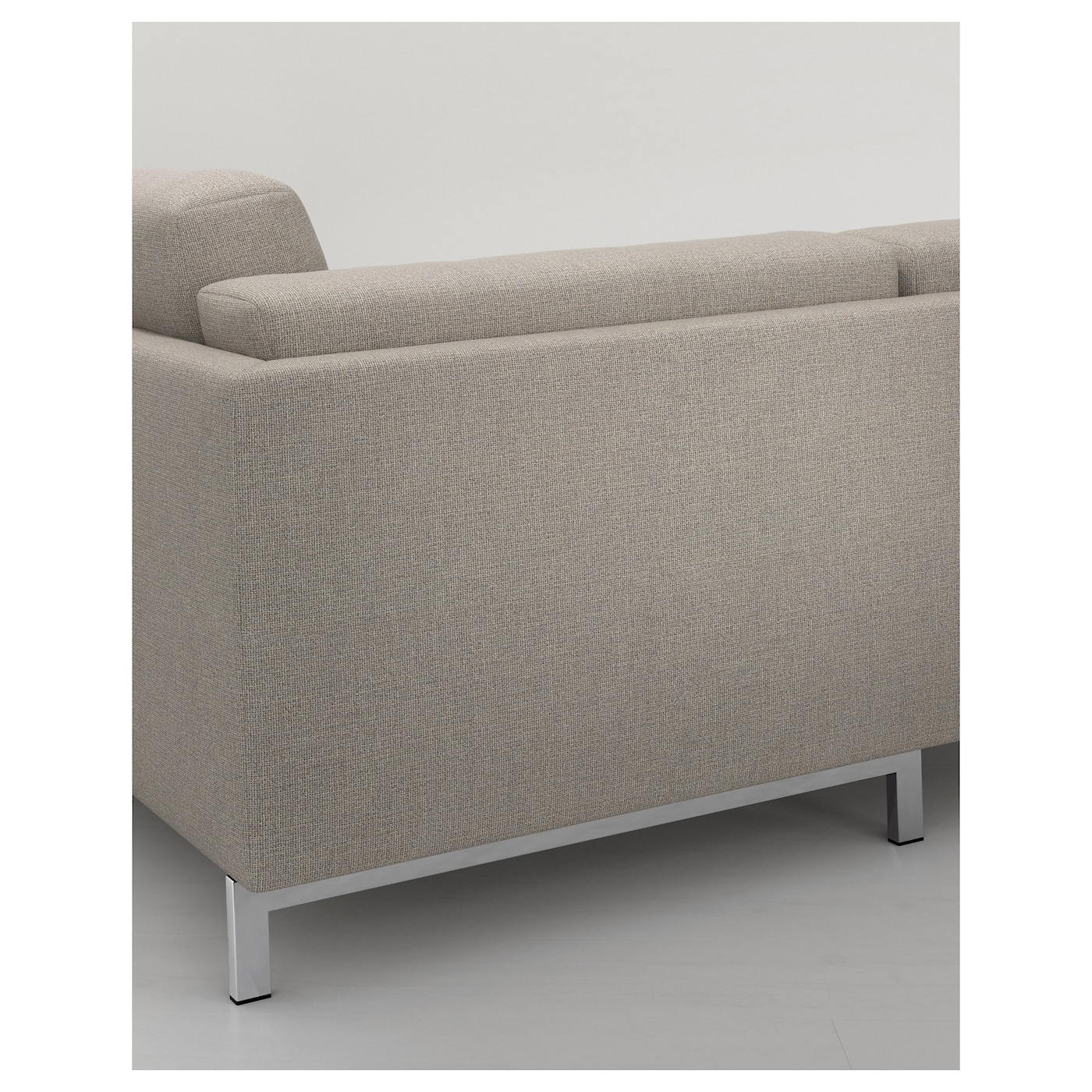 Nockeby legs for 3 seat sofa with chaise longue chrome for 3 seat chaise sofa