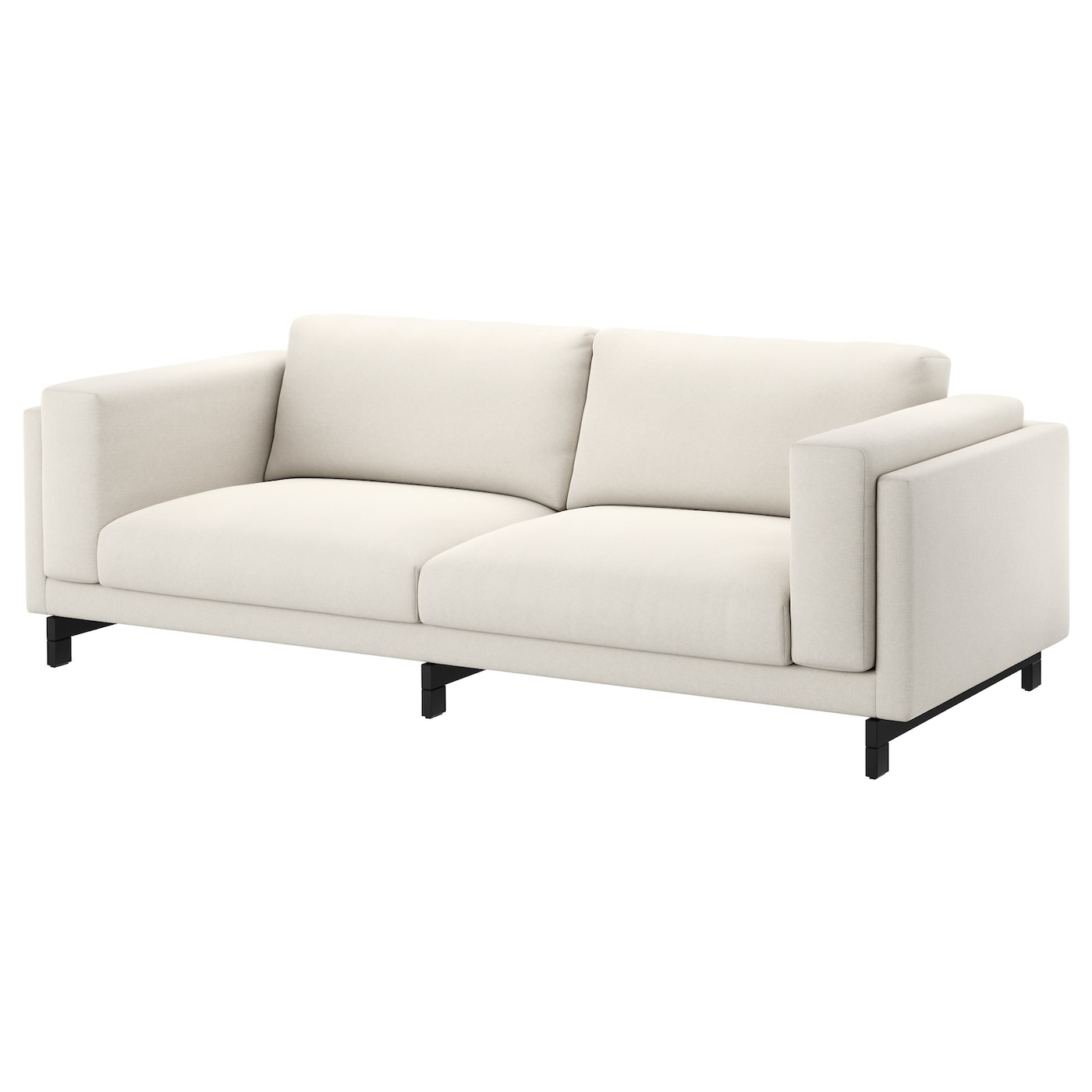 Nockeby Three Seat Sofa Tallmyra Light Beige Wood Ikea
