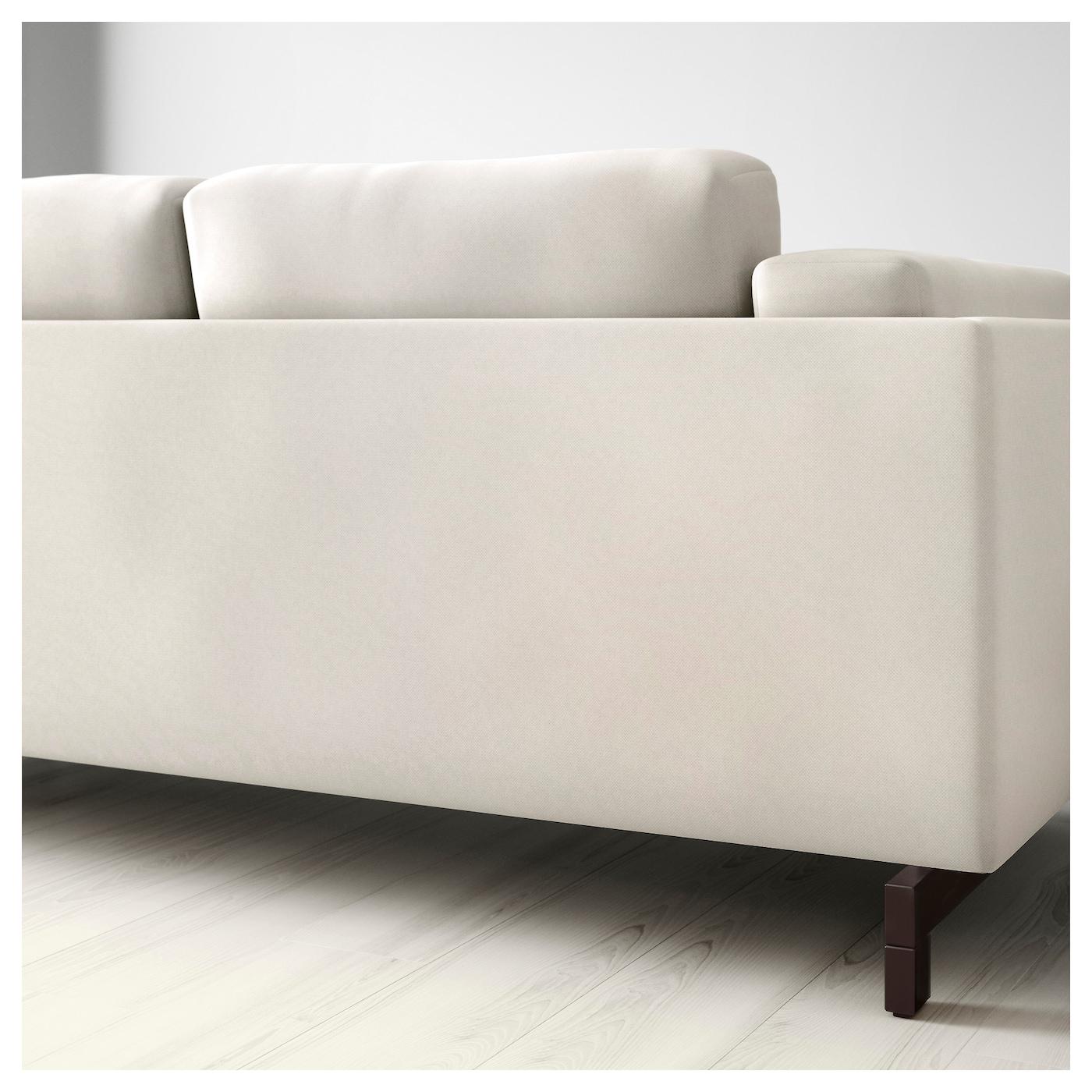 Nockeby three seat sofa tallmyra light beige wood ikea for Sofa nockeby