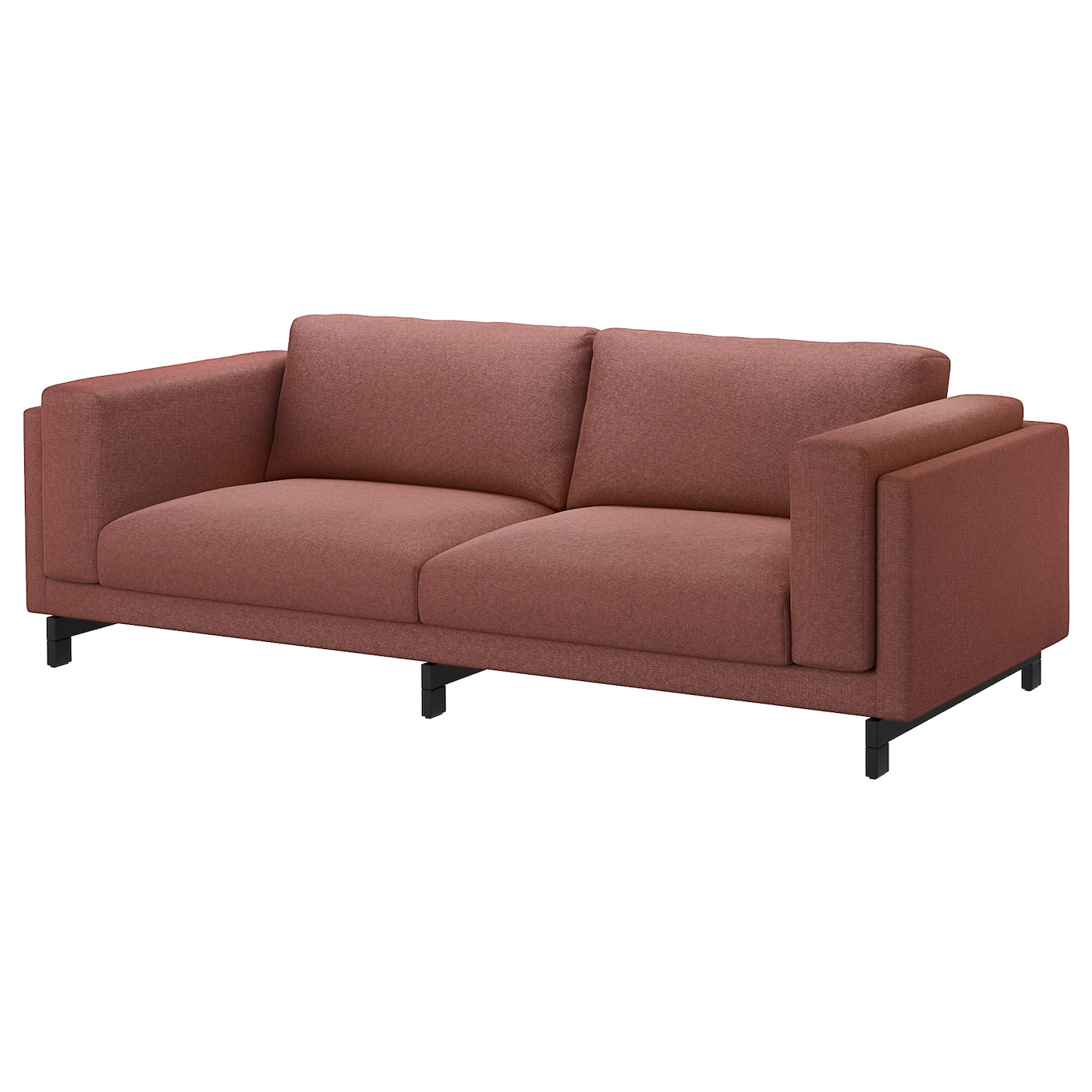 NOCKEBY Three-seat sofa Tallmyra rust/wood - IKEA