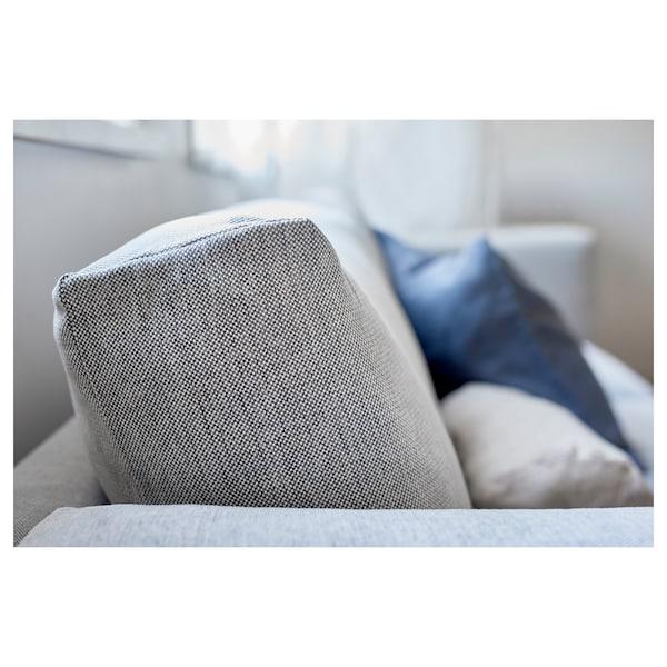 NOCKEBY Three-seat sofa, Tallmyra white/black/chrome-plated