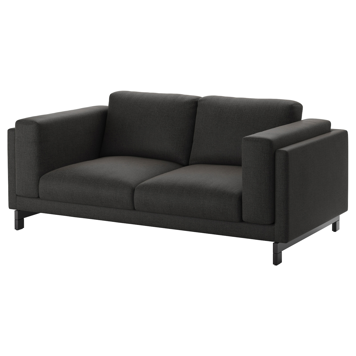 nockeby two seat sofa ten dark grey wood ikea. Black Bedroom Furniture Sets. Home Design Ideas