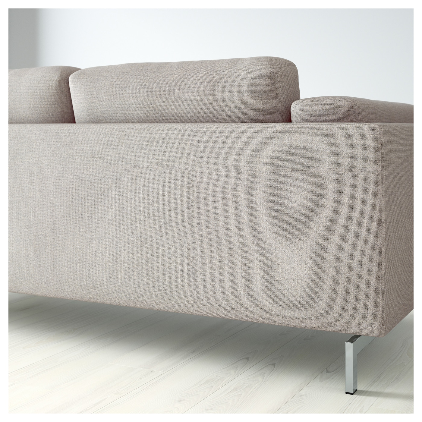 IKEA NOCKEBY two-seat sofa Heavy, structured cotton cover, yarn-dyed with two tone effect.