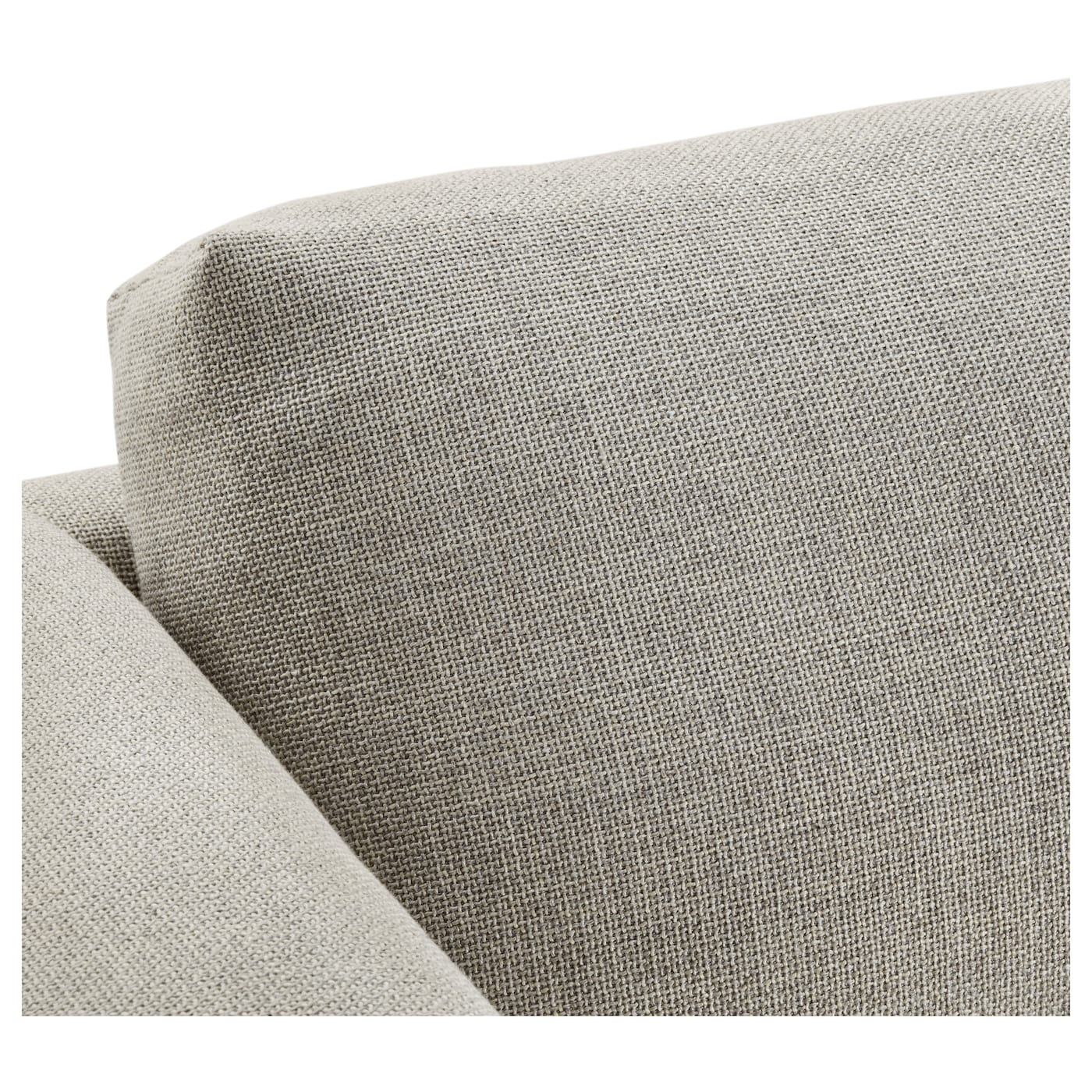 IKEA NOCKEBY two-seat sofa Heavy, hard-wearing fabric with structure, yarn dyed in different shades.