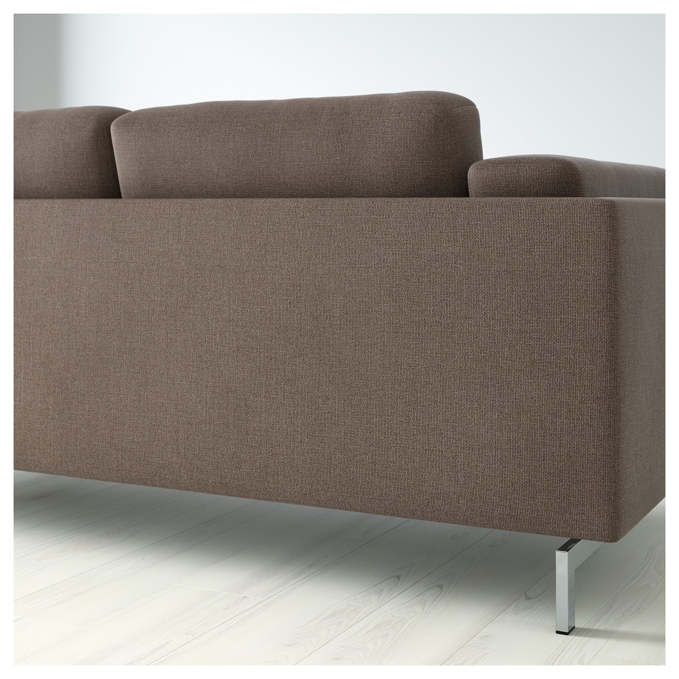Nockeby two seat sofa w chaise longue left ten brown for Sofa nockeby