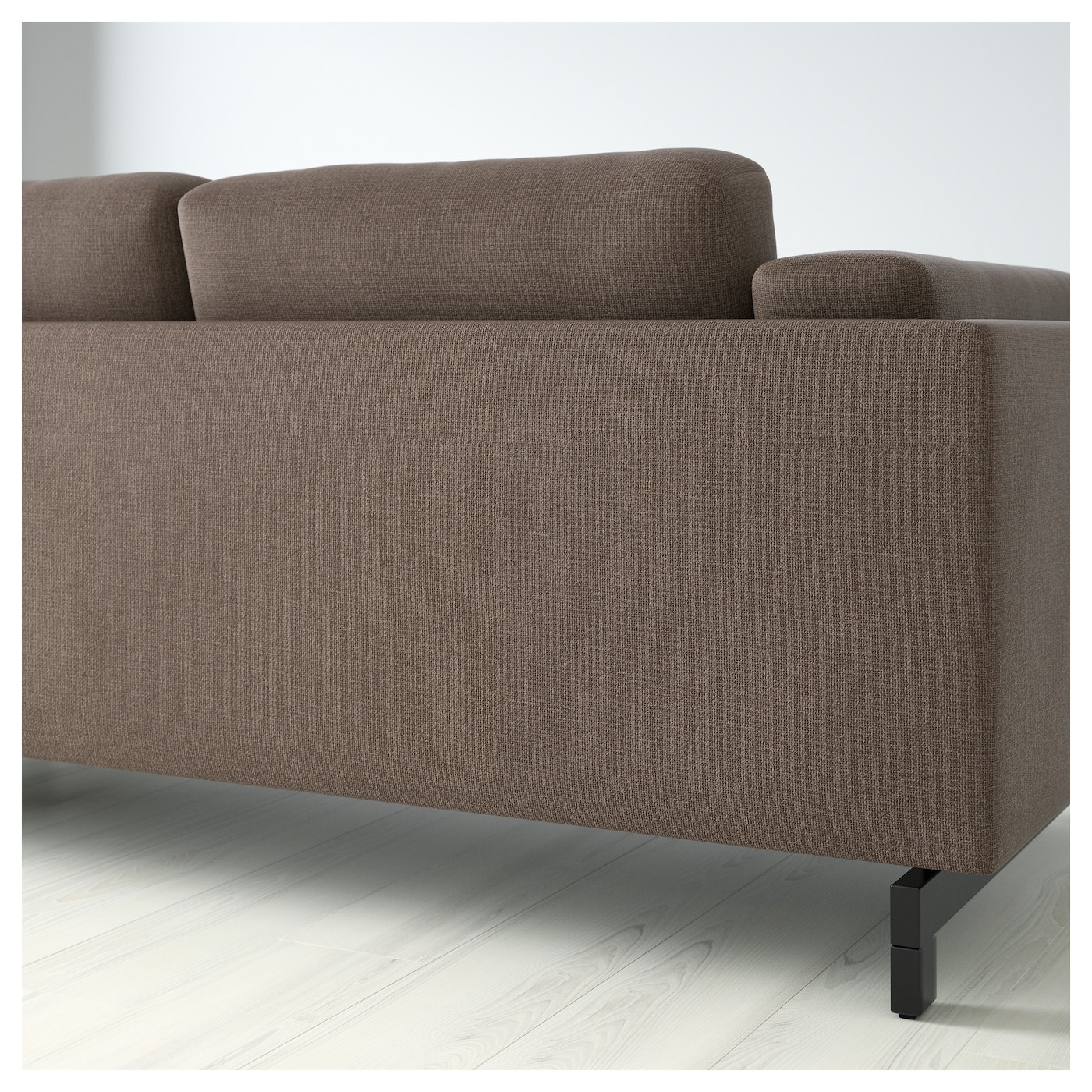 Nockeby two seat sofa w chaise longue right ten brown - Chaise longue jardin ikea ...