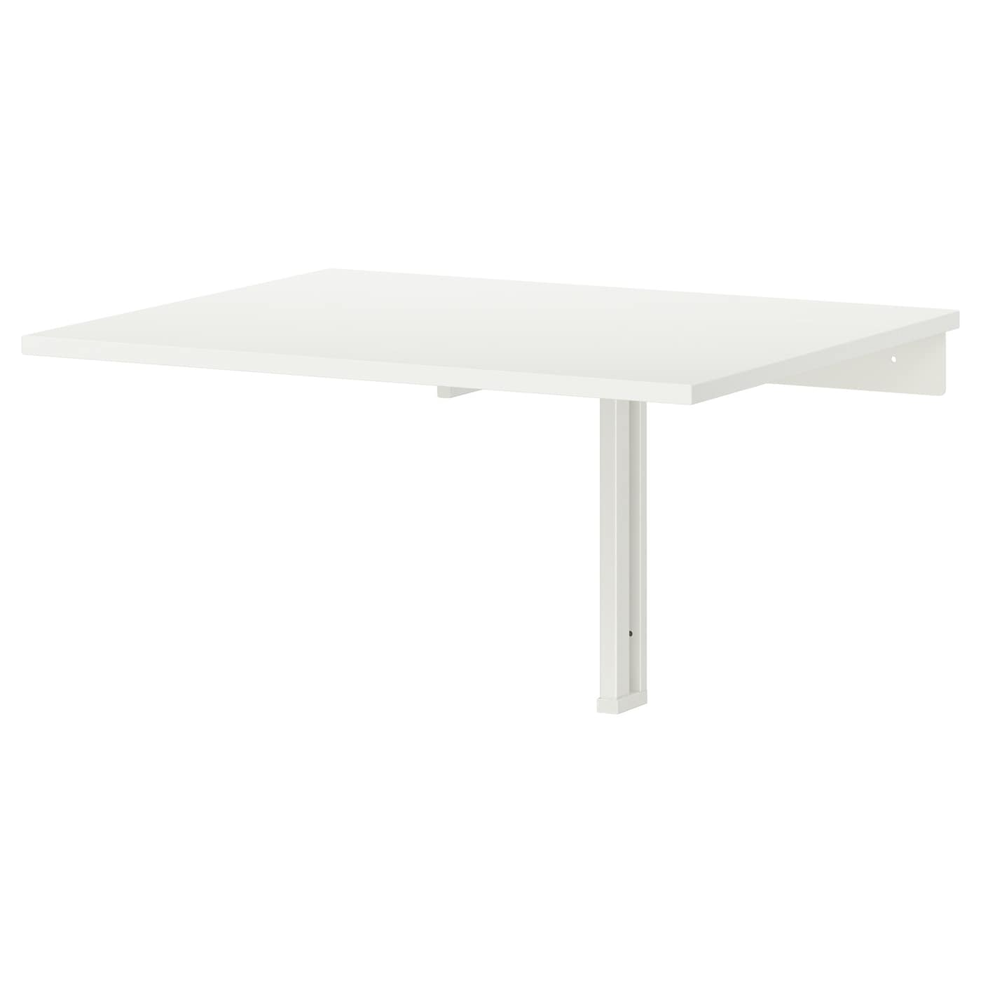 Norberg wall mounted drop leaf table white 74 x 60 cm ikea for Ikea klapptisch