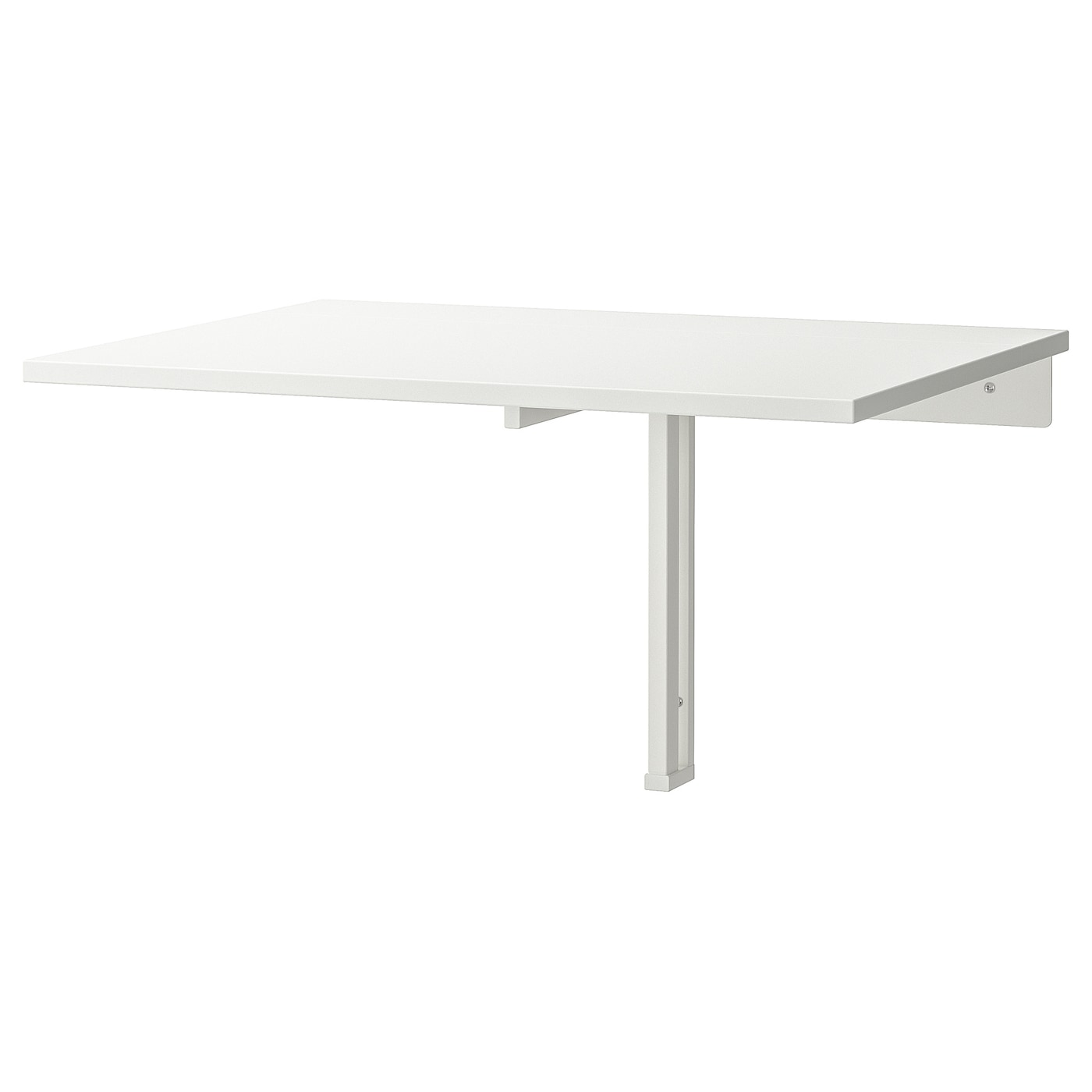 NORBERG Wall-mounted drop-leaf table - white 4x4 cm