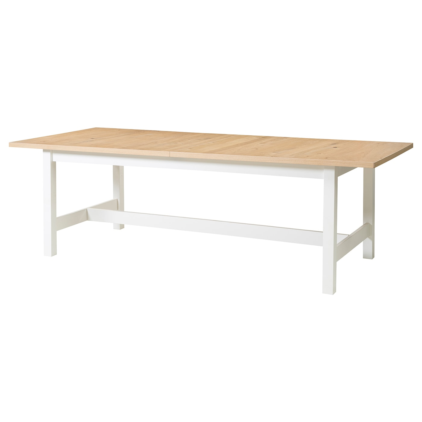 IKEA NORDEN extendable table The extra leaf can be stored within easy reach under the table top.
