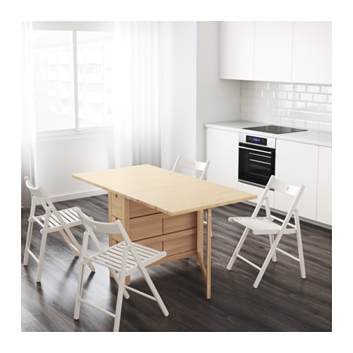 norden gateleg table birch 26 89 152x80 cm ikea. Black Bedroom Furniture Sets. Home Design Ideas