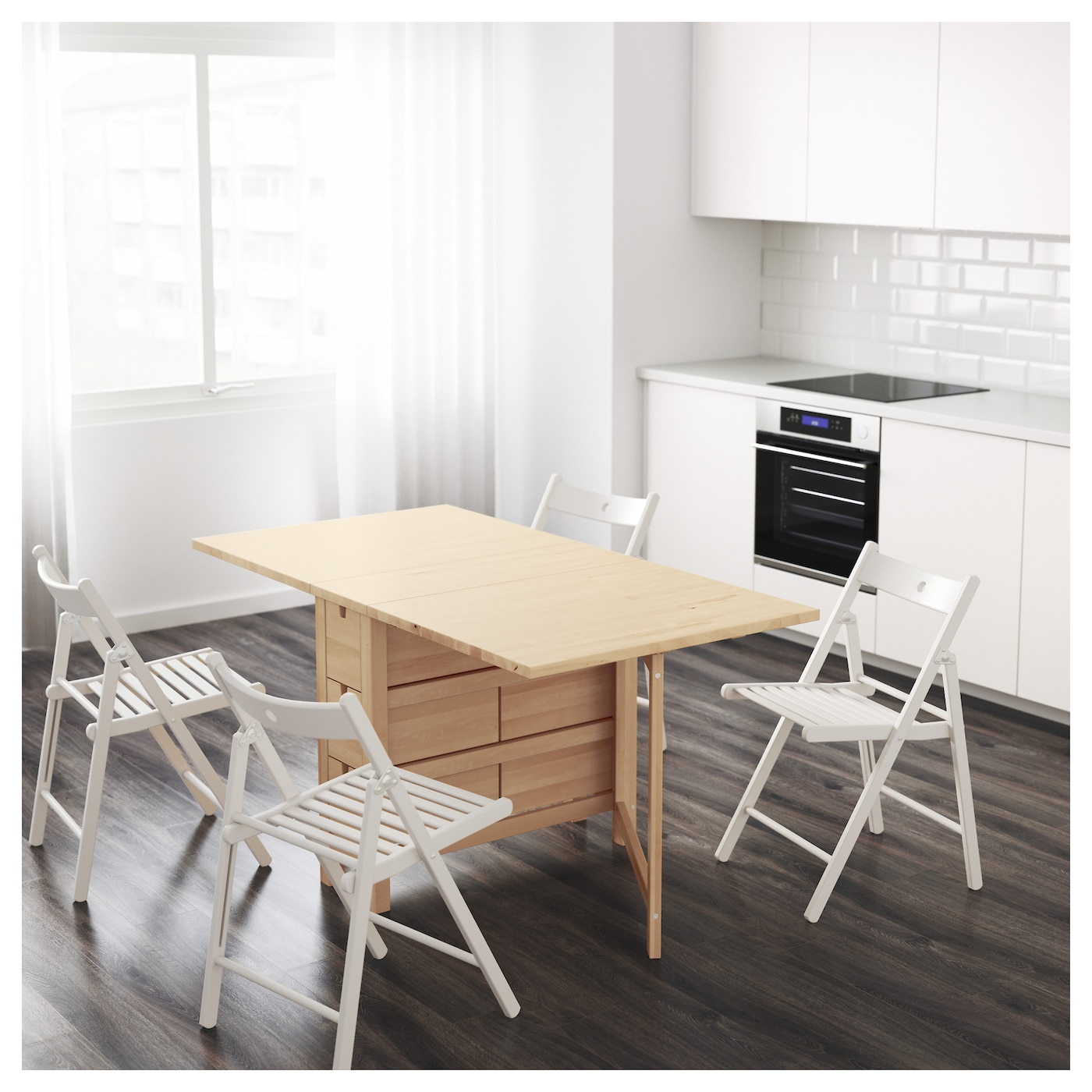 Ikea Norden Gateleg Table Solid Wood Is A Hardwearing Natural Material