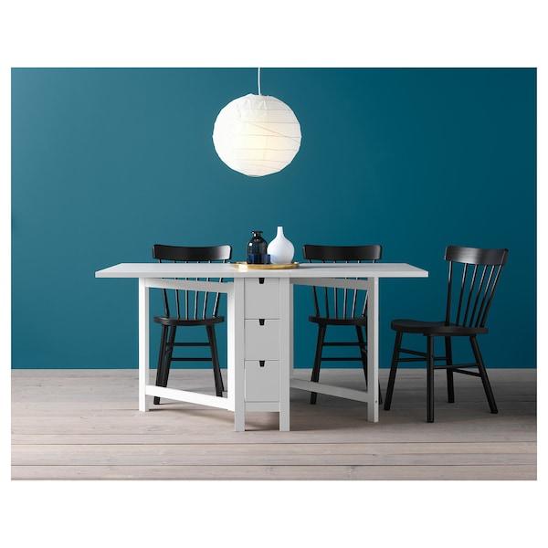 NORDEN Gateleg table, white, 26/89/152x80 cm