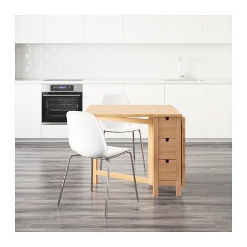 bänk ikea norden ~ nordenleifarne table and 2 chairs birchwhite chrome