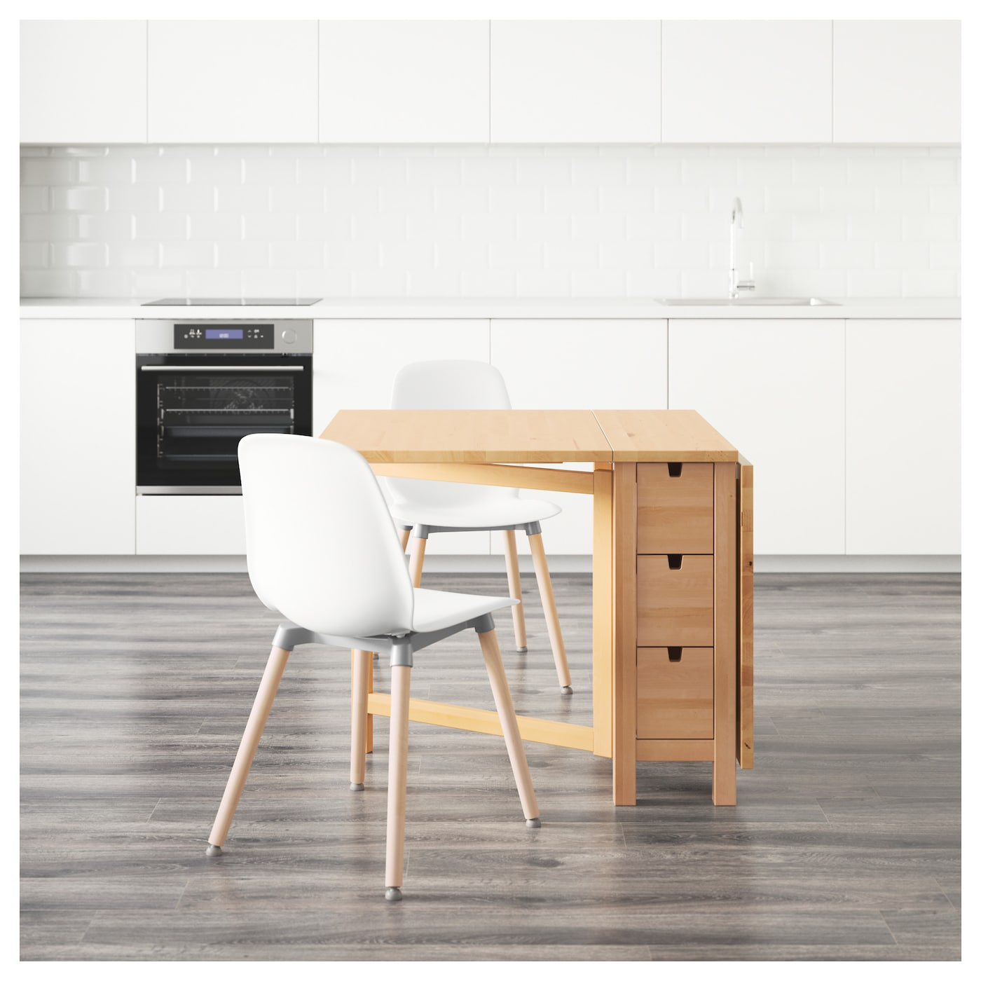 norden leifarne table and 2 chairs birch white 89 cm ikea. Black Bedroom Furniture Sets. Home Design Ideas