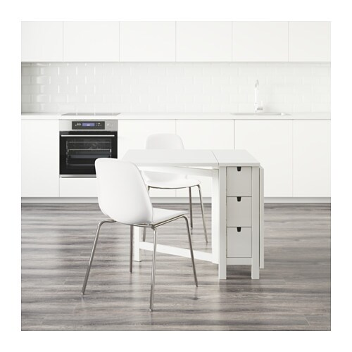 norden leifarne table and 2 chairs white white chrome plated 89 cm ikea. Black Bedroom Furniture Sets. Home Design Ideas
