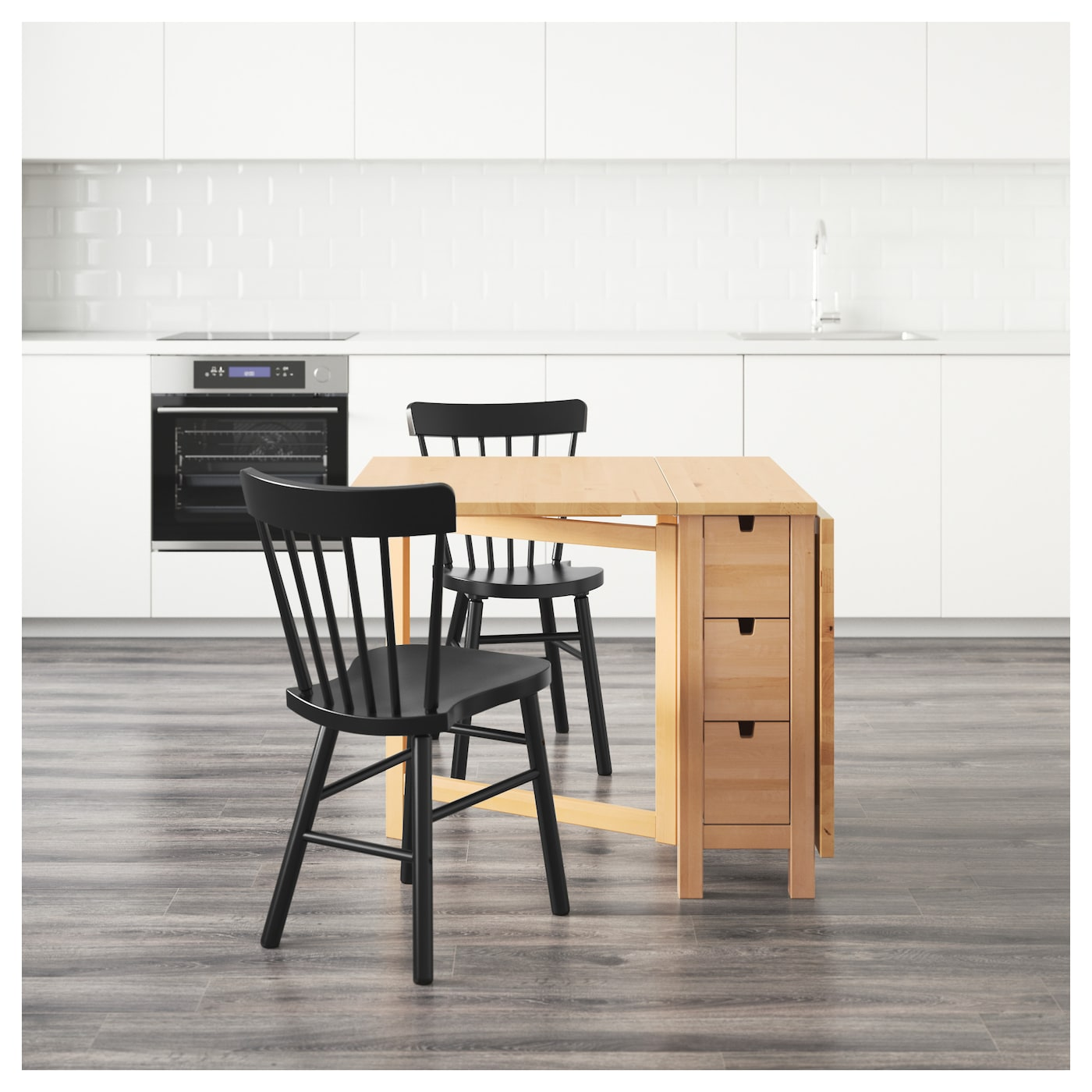 ikea norden table norden norraryd table and 2 chairs birch black 89 cm ikea 11341